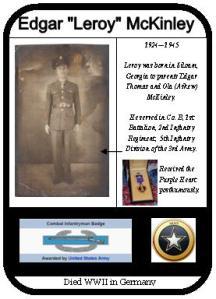Ancestor Card Leroy McKinley