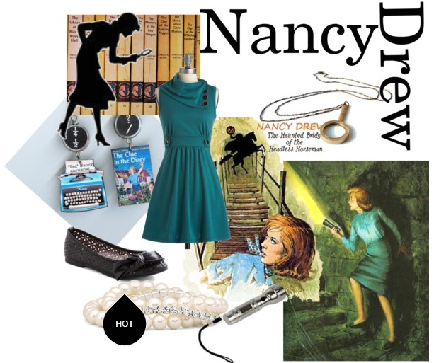 Nancy Drew fashions to book